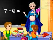 Pregnant Elsa School Teacher